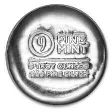 5 oz Cast-Poured Silver Round - 9Fine Mint