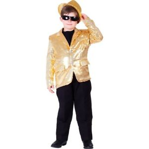 Dress Up America Kids Gold Sequin Jacket Size S-XL