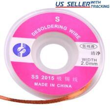 5pcs 10m X 20mm Desoldering Wick Pure Copper Braid Solder Removal Wire 5m16ft