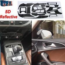 Audi A6 2012-2017 Auto 5D Reflective Carbon Fiber Interior Decal Trim Dash Kit