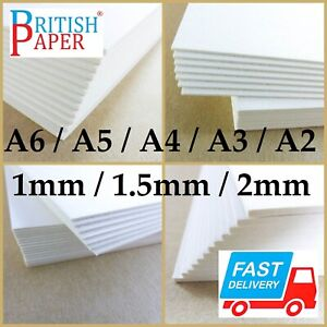 A3 A4 MOUNT BACKING CARDS PULP BOARD SHEETS GREYBOARD FOAM 1mm 2mm PICTURE FRAME