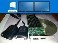 HP Nvidia Quadro NVS295 256MB Dual DP DVI SFF LP Win10  PCI-E Video Card + Cable