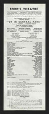 "Sigmund Romberg ""UP IN CENTRAL PARK"" Betty Bruce 1947 Baltimore Broadside"