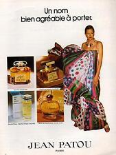 ▬► PUBLICITE ADVERTISING PARFUM PERFUME Jean PATOU Joy 1000 Câline Eau 1978