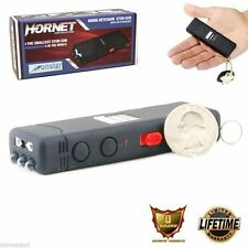 6 Million Volt Black Rechargeable Mini Keychain Stun Gun LED Flashlight HORNET