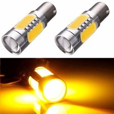 2x Amber Yellow Car LED Turn Signal Light Bulb 1156 7506 COB BA15S DC 12V 7.5W