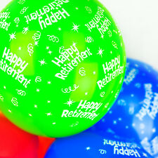 Happium - 12'' Happy Retirement Party Balloons - Party Decorations - Pack of 10