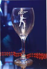 Personalised James Bond 007 Engraved Wine Glass 43/by jevge