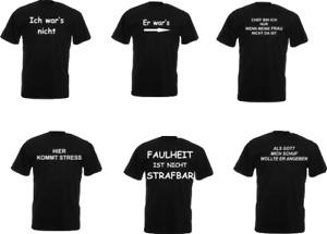 Bedruckte T-Shirts lustig Sprüche witzig Funshirt Geschenk Übergröße faul Stress