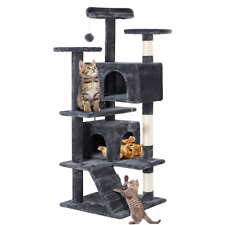 House for cats Condo Scratching Post Tower, Gray
