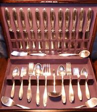 1847 Rogers AMBASSADOR Silverplate Flatware Set for 14+Serving in Original Chest