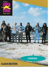 MINT CARD OF ALLMAN BROTHERS SUPER STARS MUSIC TRADING CARDS