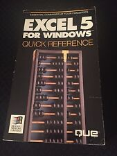 EXCEL 5 for Windows, Quick Reference, 1993 Paperback
