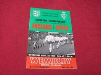 England  vs Spain  3rd April  1968  Original Programme