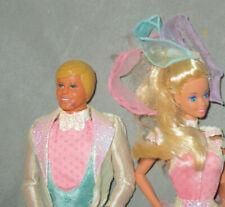 Vintage 1989 Mattel BARBIE & KEN  DollS *ICE CAPADES 50th ANNIVERSARY