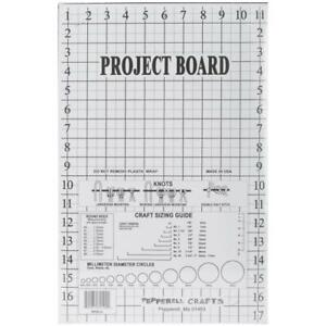 "MACRAME PROJECT BOARD 12""x17.5"" Grid Marks MPBLG Pepperelll Braiding Company"