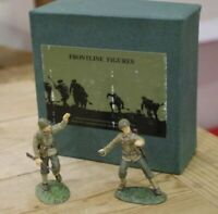 Frontline Figures WW2 United States Infantry Officer and NCO Hand Painted Metal