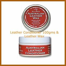 AUSTRALIAN MADE Leather Conditioner & Leather Wax - package -BK Smith