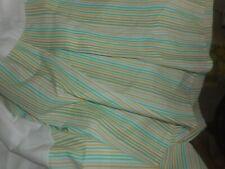 """Ralph Lauren Lauren Queen Bed Skirt Multi Color Stripes 14"""" Drop Nwot"""