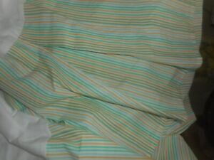 "RALPH LAUREN  LAUREN  QUEEN  BED SKIRT  MULTI  COLOR  STRIPES  14"" DROP  NWOT"