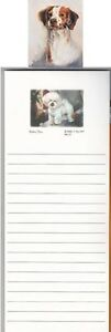 Ruth Maystead Magnetic List Pad w/ Matching Magnet VARIOUS BREEDS! Find Your Fav