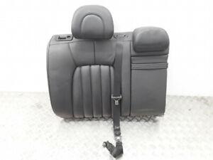 Peugeot 407 2005 rear right backrest top black leather seat