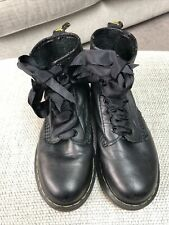 Size 3 Ladies Black Supersoft Leather Dr Martens Boots... Fab Condition