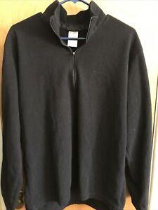 Patagonia Mens Large 1/4 Zip Fleece Black Thermal Outdoor wear