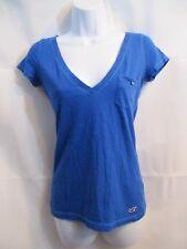 Hollister Blue Shirt V Neck, Small Pocket Size Jrs S