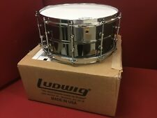 "Ludwig LB417T Black Beauty 6.5"" x 14"" Smooth Brass Snare Drum with Tube Lugs"