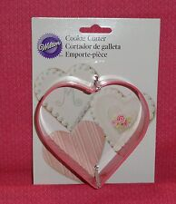 "Heart Giant Cookie Cutter,Wilton,Coated metal,4"",.Valentines,Weddings,Crafts"