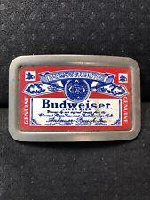 Vintage Budweiser Metal Belt Buckle 2241