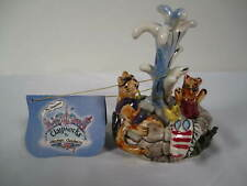 New ListingHeather Goldminc Blue Sky Clayworks Fountain with Cat and Dog Figurine 2002