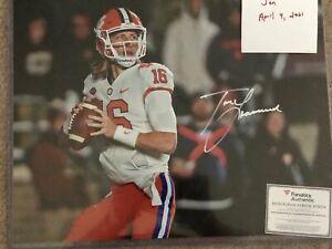 Trevor Lawrence Autographed Signed Clemson Tigers 16 x 20  photo w FANATICS cert