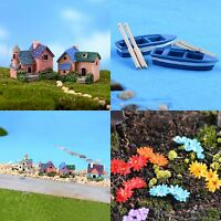 10X Garden Ornament Miniature House Flower Figurine Craft Plant Pot Fairy-Decor