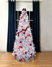 Artificial Christmas Trees, White Luxury Bergen Fir Xmas Tree, 7ft,  1100 tips