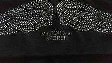 RARE Victoria's Secret foldover waist yoga legging angel wings silver studs NWT