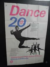 1967 Connecticut College School of Dance Poster by Bradbury Thompson Vintage Vg