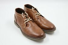 George Men's Oxford Ankle Boot 8.5 Brown with Laces Memory Foam
