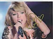 More details for taylor swift hand signed photo with coa