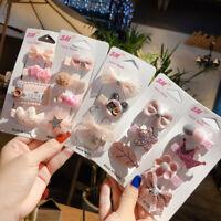 Baby Headwear Cute Hair Clips Accessories Princess Children Hair Clip 4Pcs/set