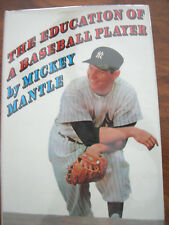 THE EDUCATION OF A BASEBALL PLAYER by Mickey Mantle-4th ptg-HCDJw/Cover-MINT