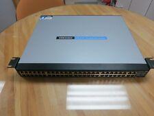 Cisco Linksys (SRW248G4) 48-port 10/100 + 4-Port Gigabit Switch with WebView