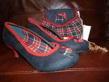 Joe Browns Heritage Tartan Shoes size 6/39 & matching handbag BNWT