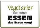 Vegetariani Divertente Segno Divertimento Cartolina Metallo Targa Di Latta