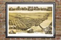 Vintage Morrisville, PA Map 1893 - Historic Pennsylvania Art - Old Industrial