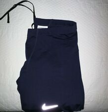Nike Therma Men's Compression Dri Fit Running Tights - Navy Large