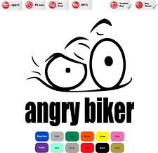 Angry Biker Iron On T-Shirt Clothes Heat Transfer Vinyl Sticker/Decal