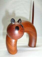 Vtg Mcm Cat Teak or Wooden Figure Atomic Danish Modern Art Accent Decor