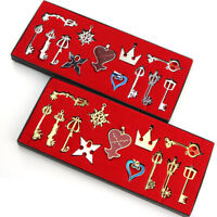 Kingdom Hearts 13pcs Key Blade Keychain Pendant Necklace Set with Box Gift
